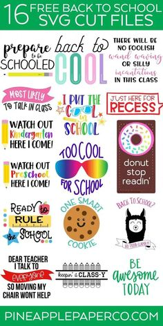 Get your family back to school ready with 16 free back to school svg files. Custom T-shirts or school gear, use these cut files to make it all. Source by Look t-shirt First Day Of School, Back To School, Handmade Teacher Gifts, Homemade Bookmarks, Harry Potter School, Look T Shirt, School Gifts, Diy School, Student Gifts