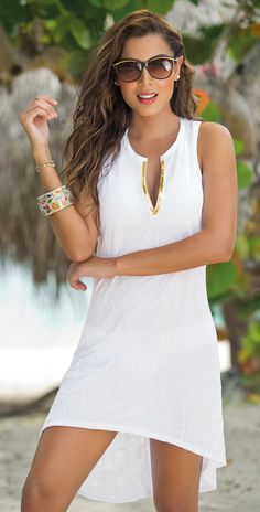 Fashion trends in 2019 resort outfits beach dresses, fashion Beach Dresses, Casual Dresses, Short Dresses, Summer Dresses, Sexy White Dress, Little White Dresses, Virtual Fashion, Spring Fashion Trends, White Fashion