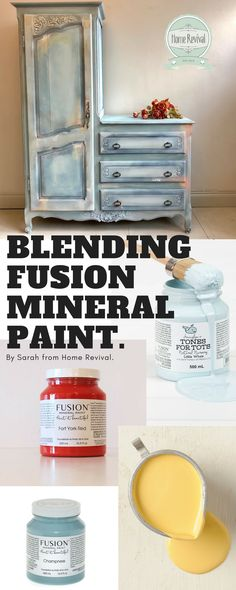 Colour Blending with Fusion Mineral Paint - Home Revival Interiors Paint Furniture, Furniture Makeover, Cool Furniture, Furniture Refinishing, Furniture Ideas, Custom Furniture, Mineral Paint, Mineral Fusion Paint, Color Blending
