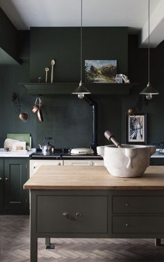 KITCHEN - RACING GREEN
