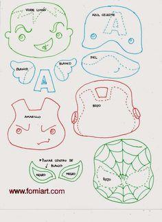 Fomiart: Patrones de Super Héroes Avengers en Miniatura