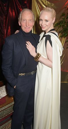 Pin for Later: It's Always Fun to See the Game of Thrones Cast Out of Costume Charles Dance and Gwendoline Christie Game Of Thrones Besetzung, Acteurs Game Of Throne, Gwendolyn Christie, Jaime And Brienne, Jaime Lannister, Charles Dance, Game Of Throne Actors, Hollywood Actor, Classic Hollywood
