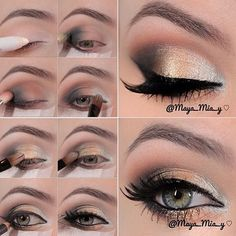 Silver, gold & bronze eyeshadow