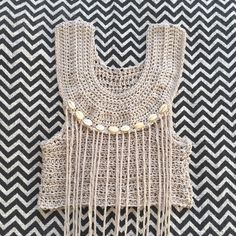 Image of MIRAGE FRINGE CROP