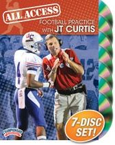 DVD cover of an All Access FB practice (7 days total) featuring J.T. Curtis, John Curtis Christian School (LA) Head Coach; Curtis has amassed over 500 career victories - only the 2nd high school football coach in history to reach 500 wins;  24 State HS Football titles total; He was also the 2006 USA Today National HS 'Coach of the Year' ... here is a link: http://www.championshipproductions.com/cgi-bin/champ/p/Football/All-Access-Football-Practice_FD-03950.html?mv_source=pinterest