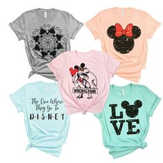 Headed to see the mouse! We have tees covered for the entire family! News Design, Latest Fashion Trends, Youth, My Style, Tees, T Shirt, Clothes, Shopping, Disneyland Hacks