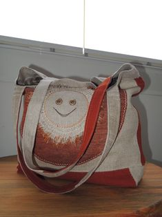Od rána s úsměvem. Burlap, Reusable Tote Bags, Hessian Fabric, Jute, Canvas