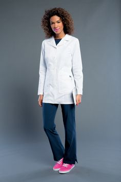 NEW! Smitten now has LAB COATS! Try out the 303006 MARQUEE Style TODAY! #Smitten #Scrubs #Medical #Fashion #Uniforms #New #Fall #Styles #Lab #Coat #Nurse #Nursing #CNA #Med #Tech #Heart #Wings