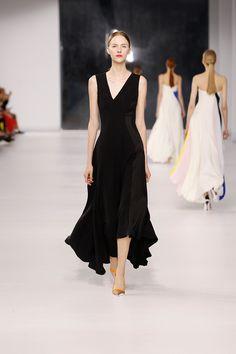 Dior Resort 2014. I like a simple black dress, and I appreciate a twist like an off-center v-neck.