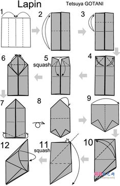 origami wolf instructions easy