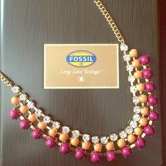 Fossil necklace NWOT Fossil necklace. Fossil Jewelry Necklaces