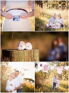 Spring Family Photo Ideas: Golden Field Maternity Session
