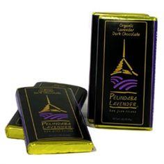 Organic Lavender Gourmet Dark Chocolate.... mmmhhmmm! $4 http://store.pelindabalavender.com/ProductDetails.asp?ProductCode=418 #chocolate #lavender #valentine