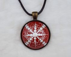"Snowflake mandala necklace ""we're back with Fabulous necklaces for sale"" #handmade #mandalas #mandalaart #handmadenecklace #mandalanecklace #mandala #handmadejewelry #handmadeaccessory #dotting #polymerclay #polymerclayjewelry #ventagejewelry #paintingmandalas #inspiredjewellery #creativejewellery"