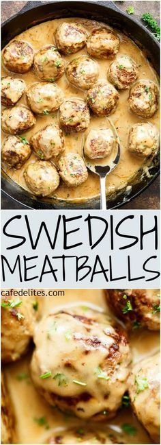 This Swedish Meatballs recipe has been passed down from a Swedish grandmother! - This Swedish Meatballs recipe has been passed down from a Swedish grandmother! The best Swedish mea - Best Swedish Meatball Recipe, Swedish Recipes, Norwegian Recipes, Meat Recipes, Cooking Recipes, Barbecue Recipes, Cooking Tips, Healthy Recipes, Gourmet