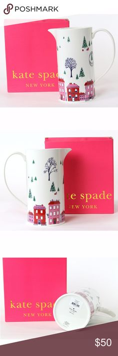 """Kate Spade Arbor Village Holiday Pitcher 8.5"""" NIB Kate Spade / Lenox    Arbor Village Holiday Pitcher , 8.5""""  New In Box kate spade Other"""