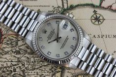 1991 - Rolex Datejust WG with Diamond Dial (With Box)