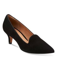 Sleek and comfortable, this modern pump features a soft suede design perfect for workday-to-weekend wear. A feminine kitten heel partners with an OrthoLite® footbed to add all-day cushioning to a beautiful look.