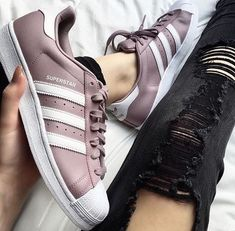 Adidas superstar sneakers in purple Adidas Shoes Women, Nike Women, Adidas Sneakers, Adidas Superstar, Basket Michael Kors, Cute Shoes, Me Too Shoes, Basket Mode, Nike Shoes Outlet