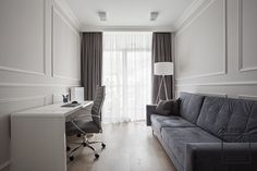 foorni.pl |projekt: Perfect Space | #biuro #gabinet #biurowdomu #dom #stylklasyczny #glamour #sztukateria #lampa #classic #workplace #homeoffice #interior #inspiration #home #design Study Office, Home Office, Office Interiors, Sweet Home, Curtains, Living Room, Space, Interior Inspiration, Salons