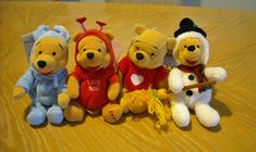 Includes: Easter Bunny Pooh 1999, Firefly Pooh 2000 (Love Bug), Pooh w/ Red Sweater, Snowman Pooh. | eBay!