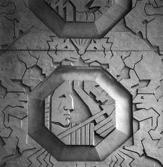 notquiteland:  via Wikipedia Sculptureby Corrado Parducci  Detail from Penobscot building Detroit