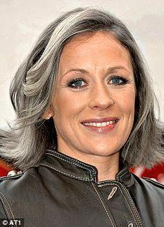 40 years old grey hair lowlights blue eyes - Google Search