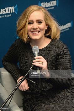 Adele goes one on one with fans during an exclusive SiriusXM Town Hall Special in the SiriusXM Studios on November 16, 2015 in New York City.