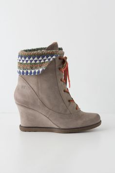 Perfect for fall. Textile Study Wedge Boots, Anthro