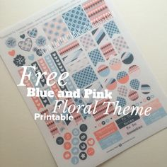 Interrobang Designs: Freebie Friday: Blue and Pink Floral Theme
