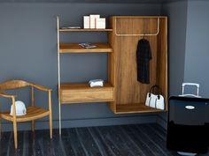 Material : Wood with brass Designed: Pauline dHOOP, Delphine Sauvaget Manufacture : SM.Com Location: Hotel C.Q - Paris