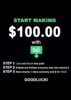 Be social, get PAID ~ http://tsu.co/jaclynanne