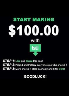 Be social, get PAID ~ http://tsu.co/jaclynanne