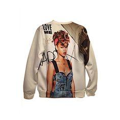 De pinkqueen® vrouwen katoen 3d rihanna afdruk sweatshirts - EUR € 20.14