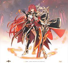 그랜드체이스 카페톡 Female Character Concept, Fantasy Character Design, Character Drawing, Character Inspiration, Fantasy Art Women, Fantasy Girl, Anime Love, Anime Guys, Fantasy Characters