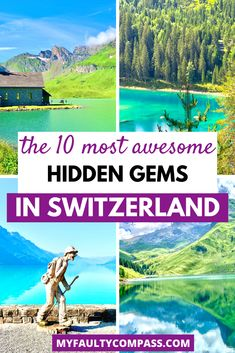 Places in Switzerland that are jaw-droppingly amazing to visit yet do not feature very prominently on most folks' itineraries, and are not crowded even during the peak summer months! Hidden gems in Switzerland | Off beat places in Switzerland | Secret spots in Switzerland | Non touristy places in Switzerland | Hidden places in Switzerland | Switzerland best places to visit | Switzerland hidden gems | #myfaultycompass #switzerland Road Trip Europe, Europe Travel Guide, Travel Guides, Travel Abroad, Outfits Winter, Outfits Spring, Places In Switzerland, Visit Switzerland, Europe Destinations