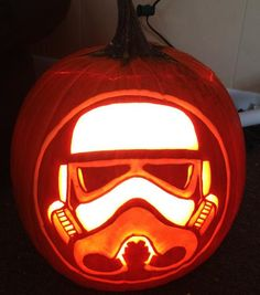Stormtrooper pattern from Stoneykins.com Carved by WynterSolstice on a real pumpkin