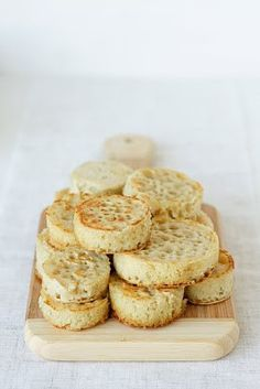 Crumpets. Recipe here: http://alwayswithbutter.blogspot.com/2011/02/english-crumpets.html