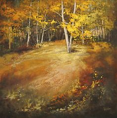 Wooded Meadow by Linda Wilder Acrylic ~ 48 x 48