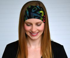 Yoga headband Womens tribal print headband by WildandFreeFashion