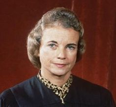 """51-yr-old Sandra Day O'Connor was the surprise nominee of Ronald Reagan to become the 102nd justice of the Supreme Court. In 1981, the Arizona jurist became the first woman confirmed to the High Court. 12 years later, when O'Connor was joined by Ruth Bader Ginsburg, both received matching T-shirts that read """"The Supremes."""""""