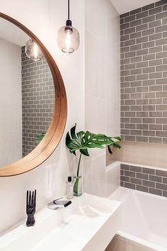 〚 Modern elegance: black and white apartment in Paris 〛 ◾ Photos ◾Ideas◾ Design – Home Decor İdeas Modern Apartment Interior Design, Bathroom Interior Design, Modern Interior Design, Interior Design Inspiration, Interior Decorating, Kitchen Interior, Design Ideas, Design Trends, Kitchen Design