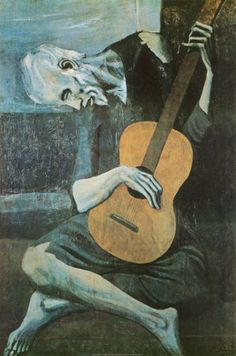 The old Guitarist, my Uncle Bill painted this & it hung inside my Grandma & Grandpa Weishaars home.  It would always catch my mind over the years & I wondered about it.  Uncle Bill passed away at the age of 21, I was probably about 4.