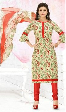 Casual Daily Wear Salwar Kameez in Cream Color Cotton Fabric | FH514378289 #casual, #salwar, #kameez, #online, #trendy, #shopping, #latest, #collections, #summer,#shalwar, #hot, #season, #suits, #cheap, #indian, #womens, #dress, #design, #fashion, #boutique, #heenastyle, #clothing, #cotton, #printed, #materials, @heenastyle