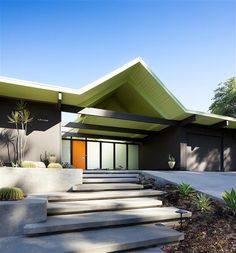 steps and planters - really nice concrete work | David Lauer mid century modern