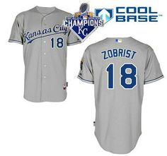 4326780cd96 ... Kansas City Royals Jersey 18 Ben Zobrist Home White MLB Cool Base With 2015  World Series ...