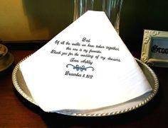 Father of The Bride Handkerchief Hankie  Hanky by MisterandMrs, $22.95