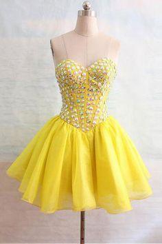 Strapless Prom Dresses#StraplessPromDresses Long Prom Dress#LongPromDress Yellow Homecoming Gowns #YellowHomecomingGowns Custom Prom Dresses#CustomPromDresses