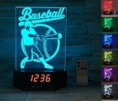 ATOMFIT BASEBALL SPORT 3D LED Night Light for Home, Table or Desk Lamp, 3D LED 7