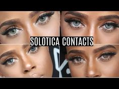The Best Colored Contacts For Dark Eyes Solotica Try On Haul | Mel, Ocre, Crystal, Graphite, Quartz - YouTube
